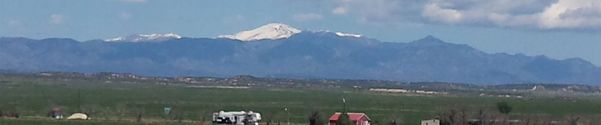 View of Pikes Peak from Pueblo West CO